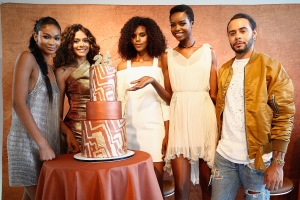 NEW YORK, NY - JUNE 20:  (L-R) Campaign Models Chanel Iman, Heidy De la Rosa, Grace Mahary, Maria Borges, and Global Artistic Director and Celebrity Stylist Cesar Ramirez co-host the MIZANI 25th Anniversary Celebration and Styling Renaissance Launch on June 20, 2016 in New York City.  (Photo by Brian Ach/Getty Images for MIZANI)
