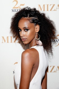 NEW YORK, NY - JUNE 20:  A hair model poses during the MIZANI 25th Anniversary Celebration and Styling Renaissance Launch hosted by Global Artistic Director and Celebrity Stylist Cesar Ramirez and Campaign Models Chanel Iman, Maria Borges, Grace Mahary and Heidy De la Rosa on June 20, 2016 in New York City.  (Photo by Brian Ach/Getty Images for MIZANI)