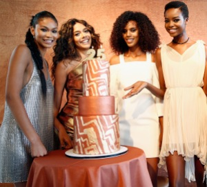NEW YORK, NY - JUNE 20:  (L-R) Campaign Models Chanel Iman, Heidy De la Rosa, Grace Mahary, and Maria Borges co-host the MIZANI 25th Anniversary Celebration and Styling Renaissance Launch with  Global Artistic Director and Celebrity Stylist Cesar Ramirez on June 20, 2016 in New York City.  (Photo by Brian Ach/Getty Images for MIZANI)