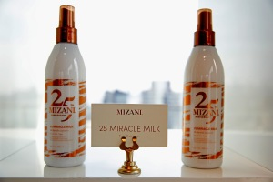 NEW YORK, NY - JUNE 20:  MIZANI haircare products on display during the MIZANI 25th Anniversary Celebration and Styling Renaissance Launch hosted by Global Artistic Director and Celebrity Stylist Cesar Ramirez and Campaign Models Chanel Iman, Maria Borges, Grace Mahary and Heidy De la Rosa on June 20, 2016 in New York City.  (Photo by Brian Ach/Getty Images for MIZANI)