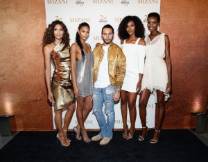NEW YORK, NY - JUNE 20:  Campaign Models Heidy De la Rosa, Chanel Iman, Grace Mahary, Maria Borges, and Global Artistic Director and Celebrity Stylist Cesar Ramirez (C) co-host the MIZANI 25th Anniversary Celebration and Styling Renaissance Launch on June 20, 2016 in New York City.  (Photo by Brian Ach/Getty Images for MIZANI)