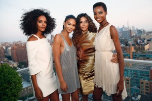 NEW YORK, NY - JUNE 20:  Campaign Models Grace Mahary, Chanel Iman,  Heidy De la Rosa, and Maria Borges co-host the MIZANI 25th Anniversary Celebration and Styling Renaissance Launch with  Global Artistic Director and Celebrity Stylist Cesar Ramirez on June 20, 2016 in New York City.  (Photo by Brian Ach/Getty Images for MIZANI)