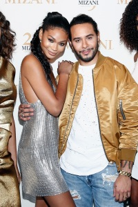 NEW YORK, NY - JUNE 20: Chanel Iman (L) and Cesar Ramirez pose during the MIZANI 25th Anniversary Celebration and Styling Renaissance Launch hosted by Global Artistic Director and Celebrity Stylist Cesar Ramirez and Campaign Models Chanel Iman, Maria Borges, Grace Mahary and Heidy De la Rosa on June 20, 2016 in New York City.  (Photo by Brian Ach/Getty Images for MIZANI)