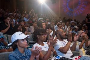 audience shot at paley