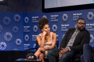 Zazie Beetz - Brian Tyree Henry during Q&A